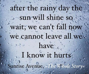 Lyrics, quote, and rain image