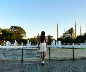 mosque, travel, and istanbul image