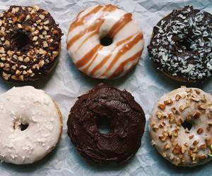 dessert, donuts, and vegan image
