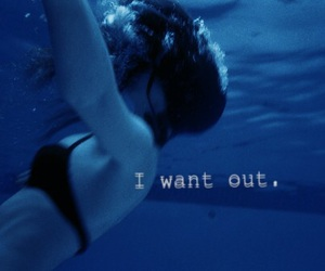 blue, quote, and drowning image