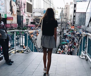 back, girl, and street image