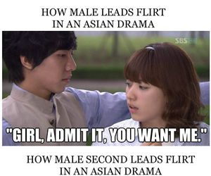 flirt, kdrama rules, and funny image
