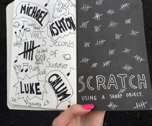 doodle, wreck this journal, and scratch image