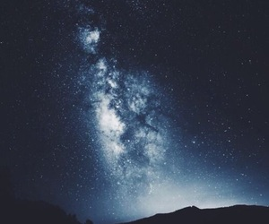 background, iphone, and milky way image
