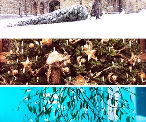 hogwarts, snow, and winter image