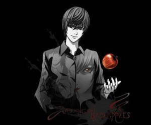 apple, death note, and light yagami image