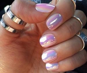 fashion, glow, and nails image