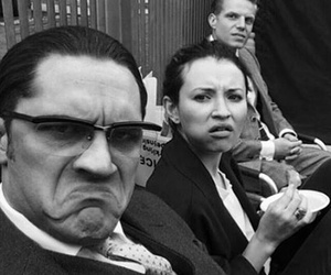emily browning, legend, and tom hardy image