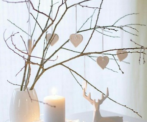 christmas, candle, and decoration image