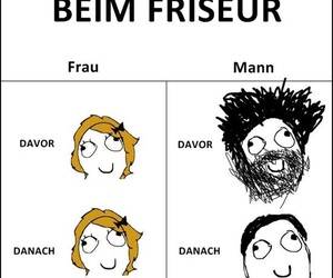funny, mann, and friseur image