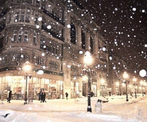 beautiful, december, and snowing image