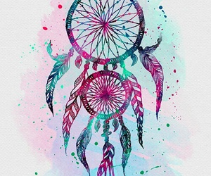 background, blue, and dream catcher image