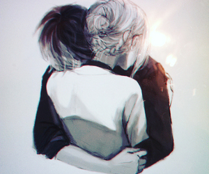 anime, couple, and tokyo ghoul image