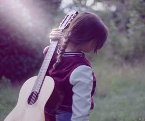 beauty, guitar, and sun image