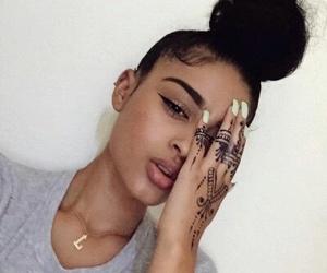 henna, bun, and eyebrows image