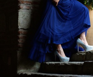 blue, heels, and Prom image