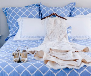 bed, dress, and bedroom image