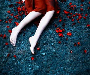 legs and red image