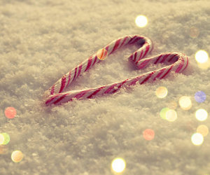 snow, christmas, and heart image