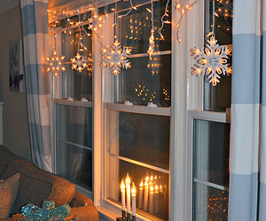 christmas, candles, and snowflakes image