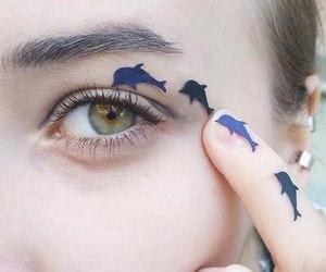 eyes, dolphin, and eye image