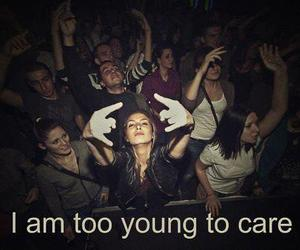 young, party, and text image