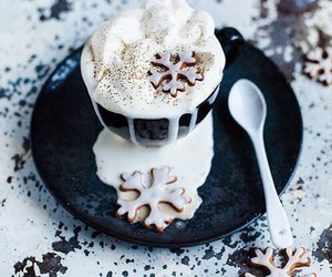 christmas, latte, and warm and cozy image