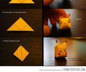 pikachu, origami, and diy image