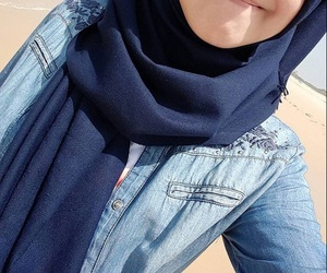 blue, hijab, and jeans image