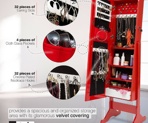 etsy, jewelry armoire, and jewelry organizer image