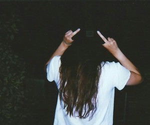 girl, hair, and hate image