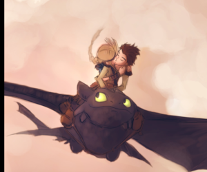 kiss, how to train your dragon, and astrid image