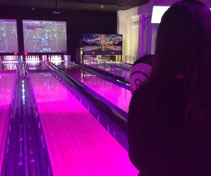 alley, bowling, and ball image