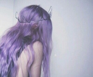 girl, purple, and tumblr image