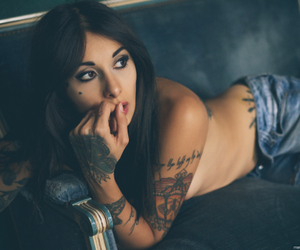 girl, ink, and Hot image