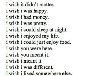 wish, sad, and quotes image