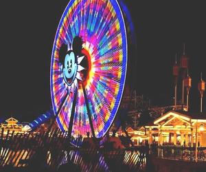 disney, fair, and ferris wheel image