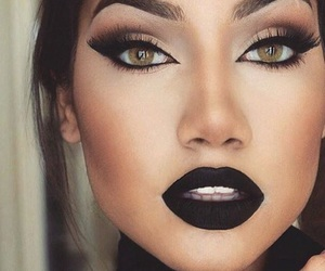makeup, black, and make up image