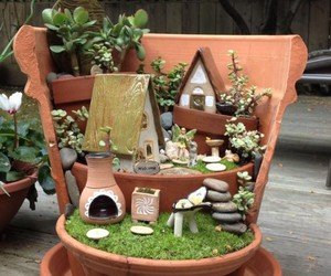 mini garden, garden art, and upcycled garden image
