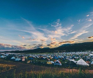 camping, colorado, and music festival image