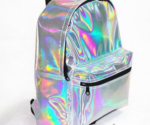 backpack and holographic image