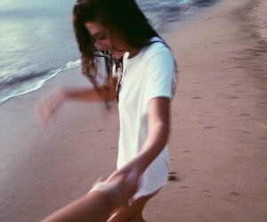 beach, lovely, and people image