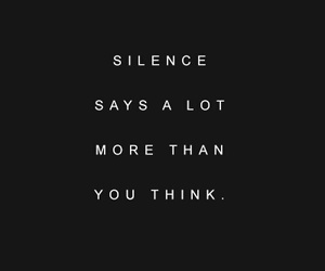 quotes, silence, and black image