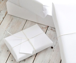 white, christmas, and gift image