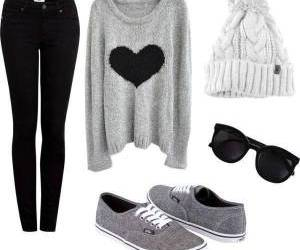 outfit, vans, and black image