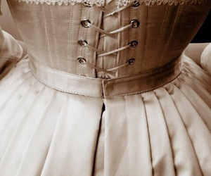 corset, dress, and victorian image