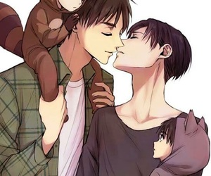 family, ereri, and cute image