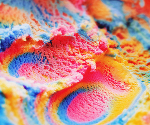 ice cream, food, and rainbow image