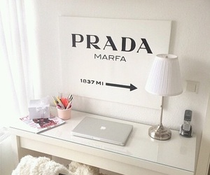 Prada, desk, and room image