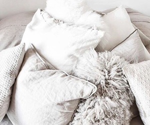 pillow, white, and beautiful image